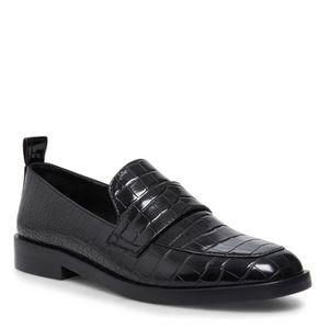 🟠STEVE MADDEN Judith Black Loafers Size 8